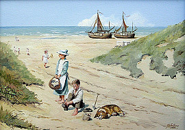 Schilderij strand